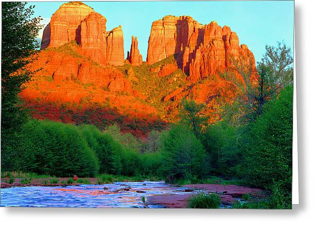 Cathedral Rock Greeting Card by Frank Houck