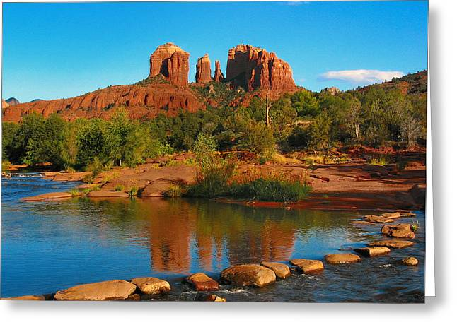 Cathedral Rock Greeting Cards - Cathedral Rock Greeting Card by Lanis Rossi