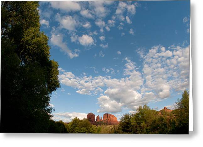 Cathedral Rock One Greeting Card by David Sunfellow
