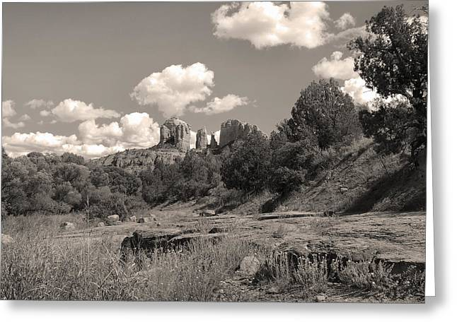 Cathedral Rock Sedona Greeting Card by Gordon Beck