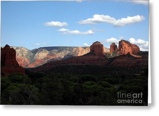 Red Rock Crossing Greeting Cards - Cathedral Rock SEDONA Greeting Card by Jerry Bokowski
