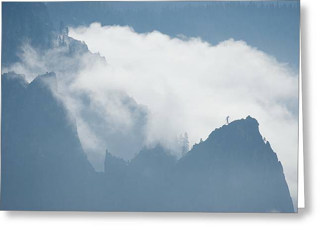 Cathedral Rock Greeting Cards - Cathedral Rocks Mist Greeting Card by Chris  Brewington Photography LLC