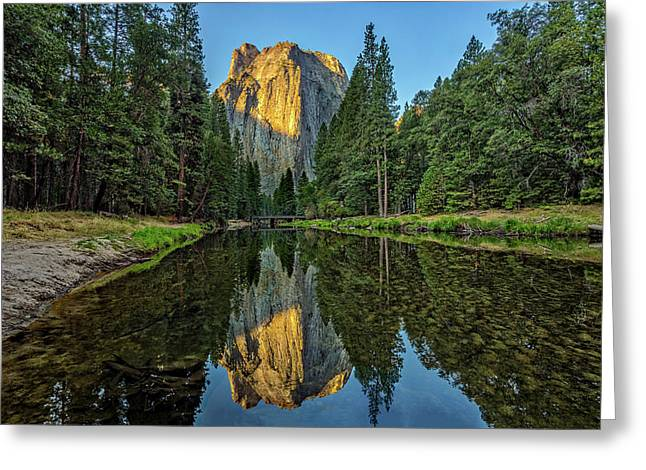 Cathedral Rocks Morning Greeting Card by Peter Tellone