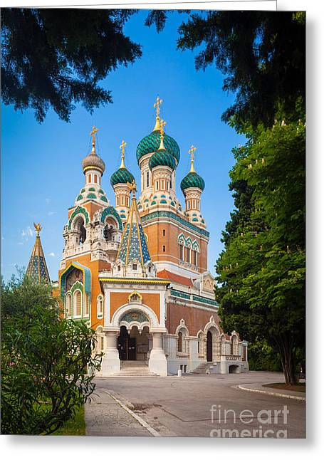 Russian Icon Greeting Cards - Cathedral Russe Greeting Card by Inge Johnsson