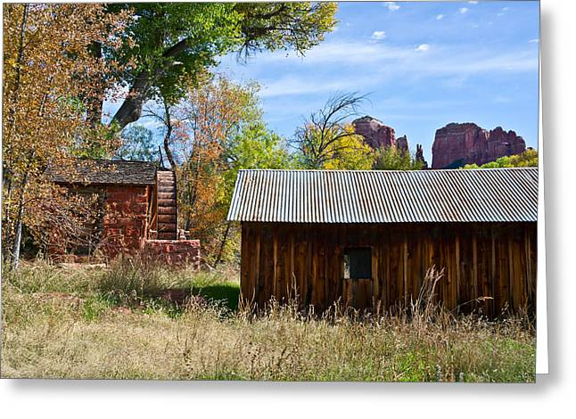 Outbuildings Greeting Cards - Cathedral Shack Greeting Card by Kent Nancollas