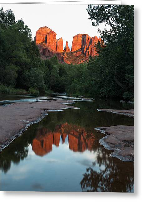 Cathedral Sunset Greeting Card by Bill Cantey