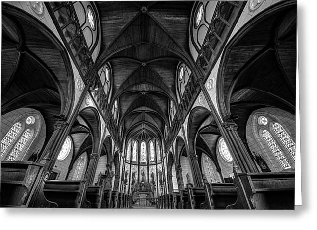 Ceiling Greeting Cards - Cathedral Greeting Card by Tomoshi Hara