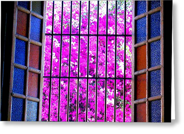 Cathedral Window by Michael Fitzpatrick Greeting Card by Olden Mexico