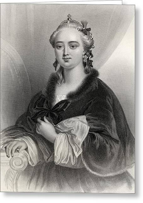 Catherine White Greeting Cards - Catherine Ii, Catherine The Great Greeting Card by Ken Welsh