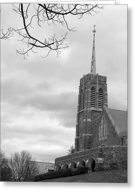U S Military Greeting Cards - Catholic Chapel West Point Greeting Card by Staci-Jill Burnley