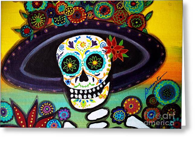 Turkus Greeting Cards - Catrina Greeting Card by Pristine Cartera Turkus