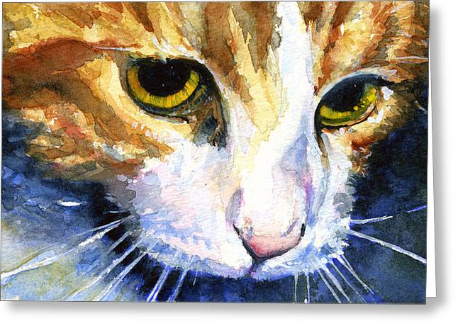Cats Eyes 12 Greeting Card by John D Benson