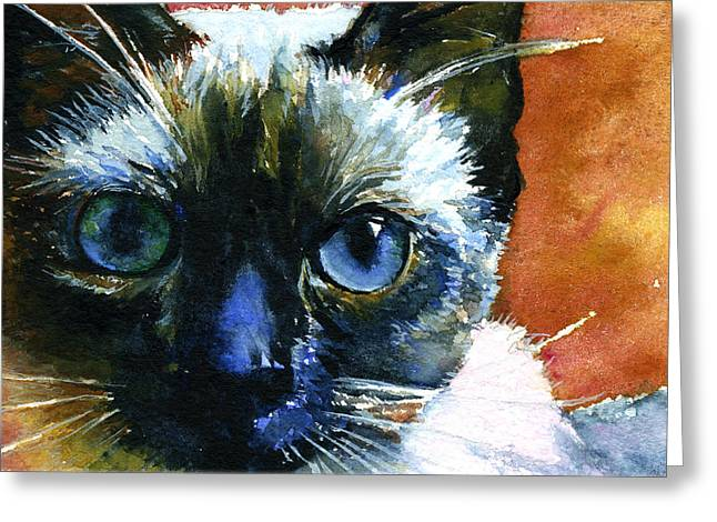 Cats Eyes 13 Greeting Card by John D Benson