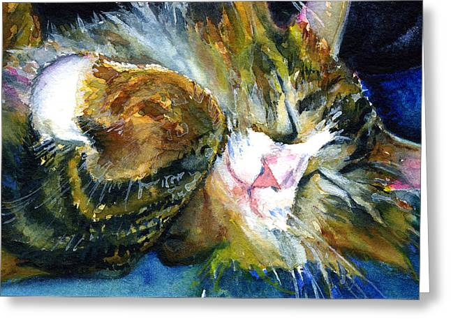 Cats Eyes 14 Greeting Card by John D Benson