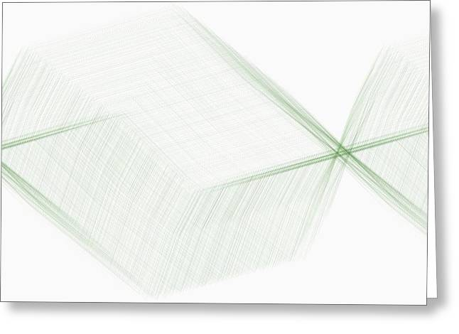Generative Abstract Greeting Cards - Cats Ladder Offshoots 9-6-2015 #1 Greeting Card by Steven Harry Markowitz