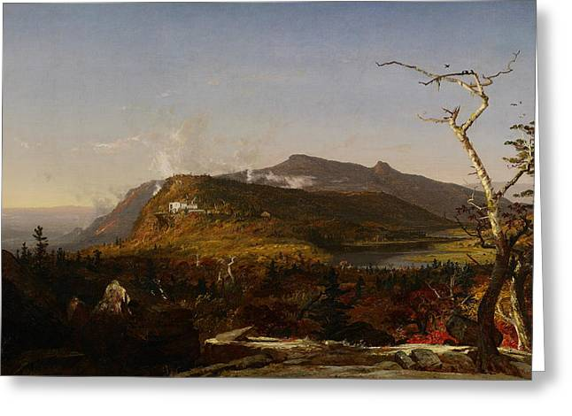 Catskill Mountain House Greeting Card by Jasper Francis Cropsey