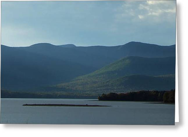 Catskill Mountains Panorama Photograph Greeting Card by Kristen Fox