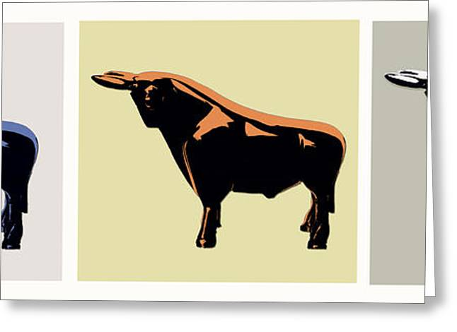 Cattle Baron Greeting Card by Slade Roberts