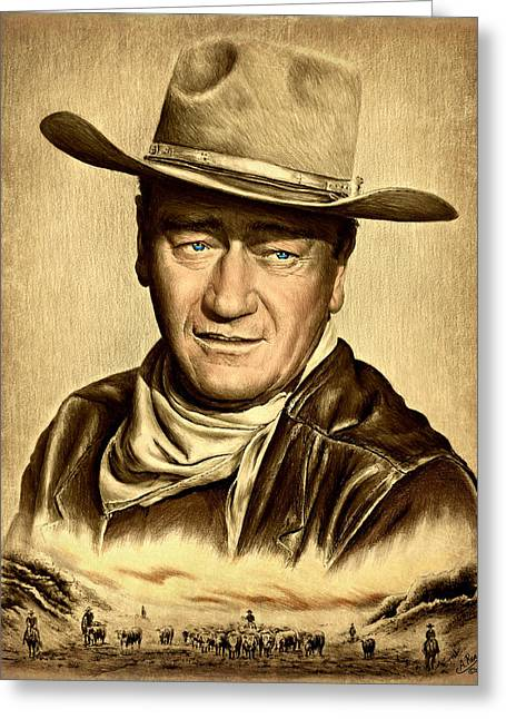 Cattle Drive 2 Sepia Greeting Card by Andrew Read