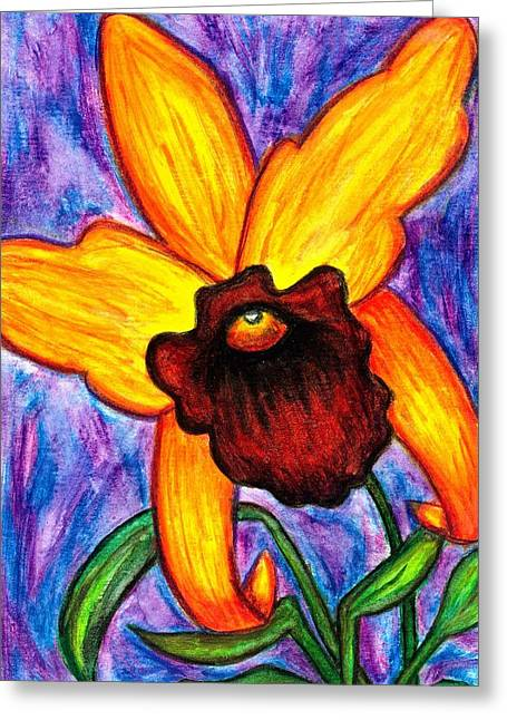 Cattleya Greeting Cards - Cattleya Orchid Greeting Card by Colene Milligan