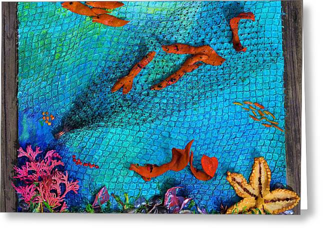 Caught Not Caught Greeting Card by Lori Kingston