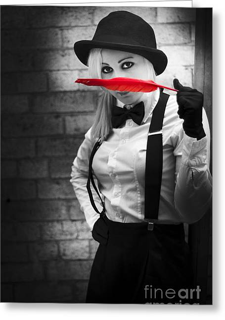 Caught Red Handed With A Soft Clue Greeting Card by Jorgo Photography - Wall Art Gallery