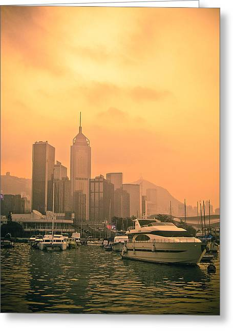 Causeway Bay At Sunset Greeting Card by Loriental Photography