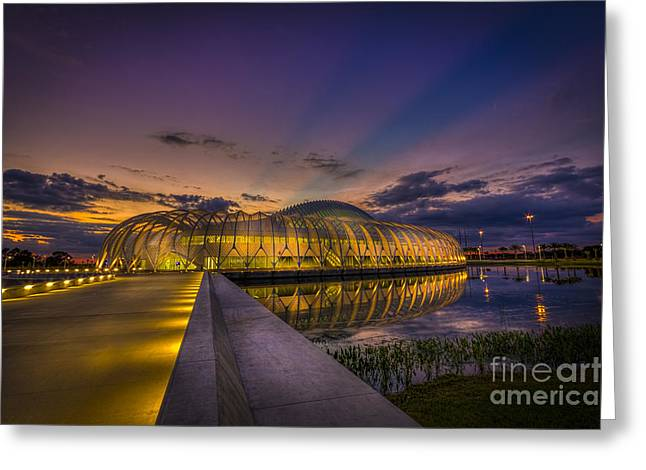 Blue Hour Greeting Cards - Causeway To Learning Greeting Card by Marvin Spates