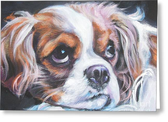 Cavalier King Charles Spaniel Blenheim Greeting Card by Lee Ann Shepard