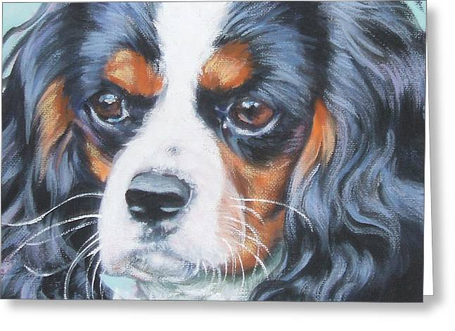 Cavalier King Charles Spaniel  Greeting Card by Lee Ann Shepard