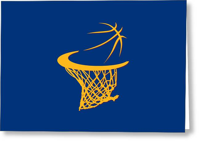 Cavaliers Basketball Hoop Greeting Card by Joe Hamilton