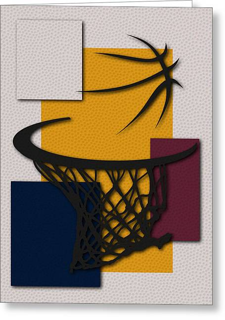 Cleveland Cavaliers Greeting Cards - Cavaliers Hoop Greeting Card by Joe Hamilton
