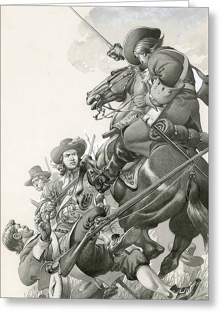 Cavalry Charge Greeting Card by Pat Nicolle