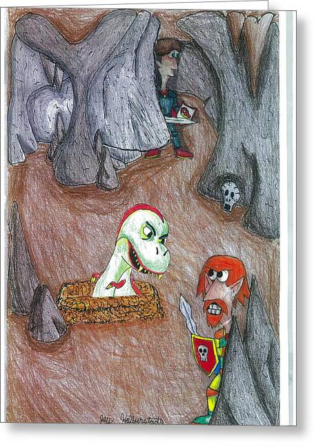 Cave Greeting Card by Jayson Halberstadt