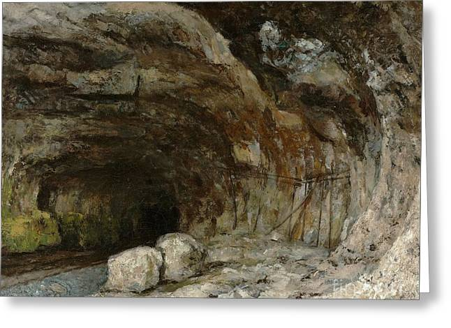 Cave Of The Saracens Near Greeting Card by Gustave Courbet