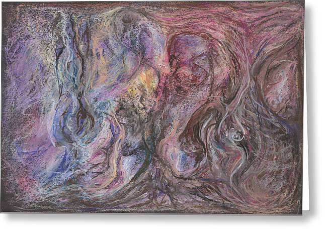 Caves Pastels Greeting Cards - Cave of the Undying Greeting Card by Tom Kecskemeti