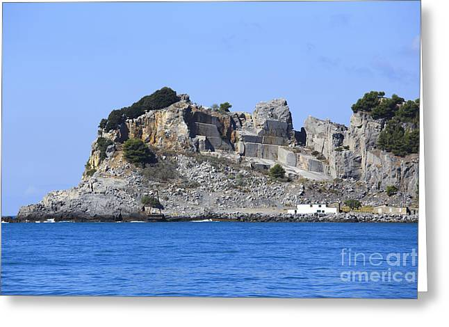 Water In Caves Greeting Cards - Cave on island Greeting Card by Maurizio Biso