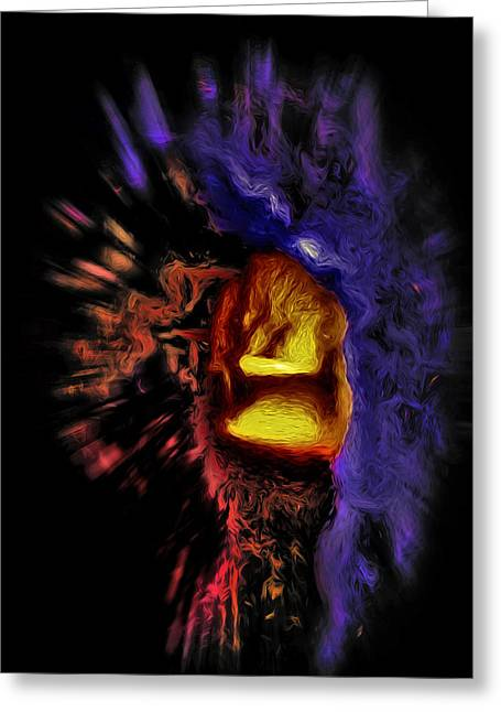 Cavern Mixed Media Greeting Cards - Cavern 2 - Abstract Greeting Card by Steve Ohlsen