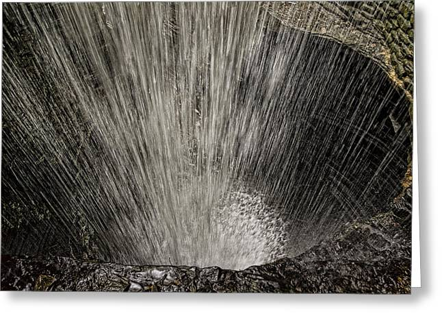 Cavern Greeting Cards - Cavern Cascade Greeting Card by Stephen Stookey