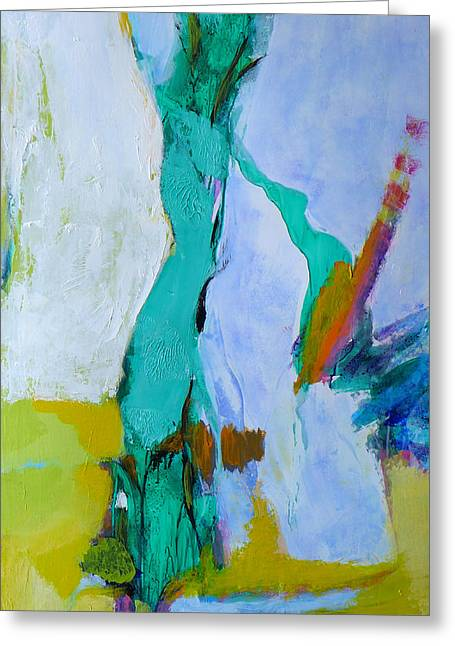 White Paintings Greeting Cards - Cavern Pool Greeting Card by Valerie Erichsen Thomson