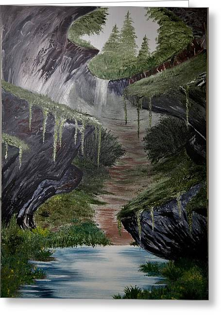 Cavern Paintings Greeting Cards - Cavern Greeting Card by Shannon Wells