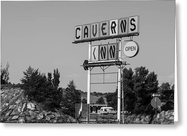 Cavern Greeting Cards - Caverns Inn Route 66 Greeting Card by John McGraw