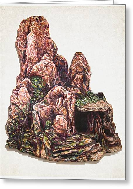 Lego Mixed Media Greeting Cards - Caverns Greeting Card by Karl Frey