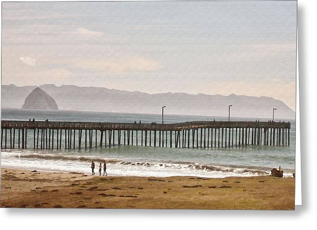 Caycous Pier II Greeting Card by Sharon Foster
