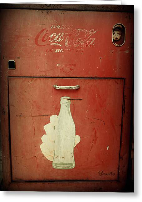 Bottle. Bottling Photographs Greeting Cards - Cayman Coca Cola Greeting Card by Laurie Perry