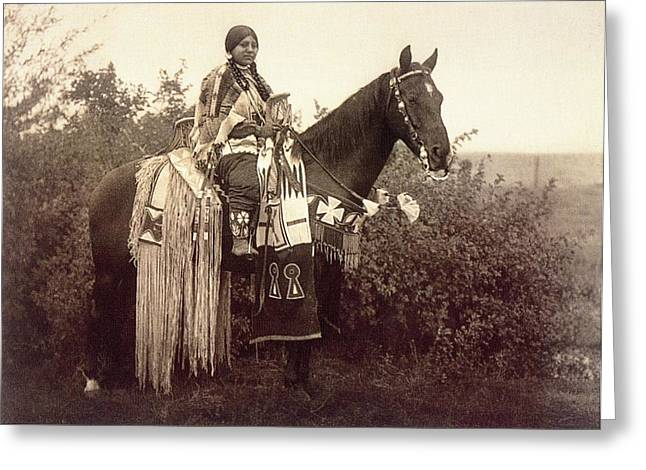 Indian Princess Greeting Cards - Cayuse Greeting Card by Edward Curtis