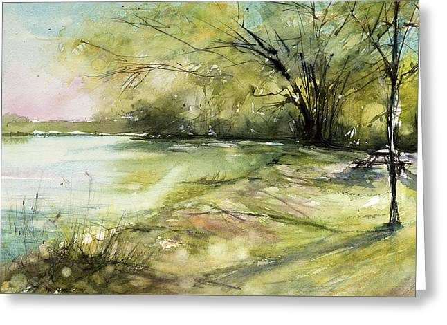 Caz Lake Rest Stop Greeting Card by Judith Levins