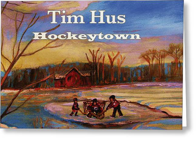 Cd Cover Commission Art Greeting Card by Carole Spandau
