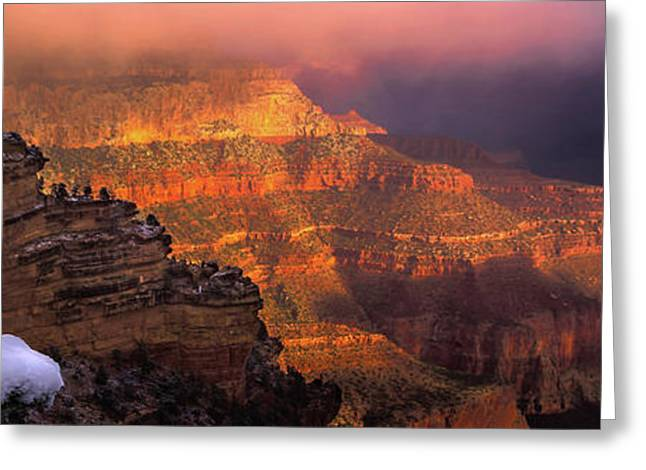 Canyon Dawn Greeting Card by Mikes Nature