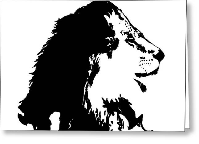 Zimbabwe Drawings Greeting Cards - Cecil the Lion Greeting Card by Addison Maples